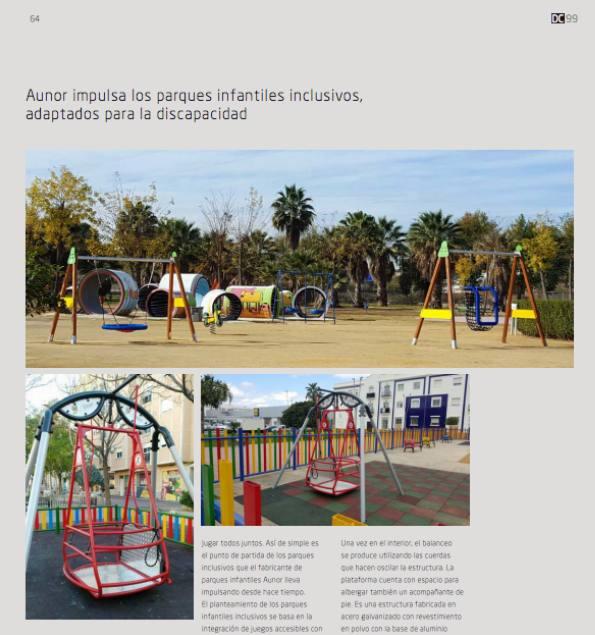 Los parques infantiles adaptados de Aunor en la revista DC